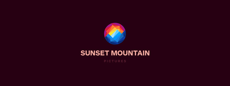 Sunset Mountain Logo Design by Dalius Stuoka