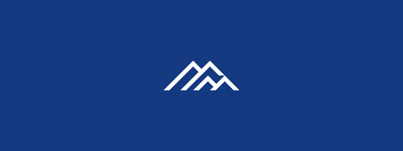 MM + Mountains Logo Design by Dalius Stuoka