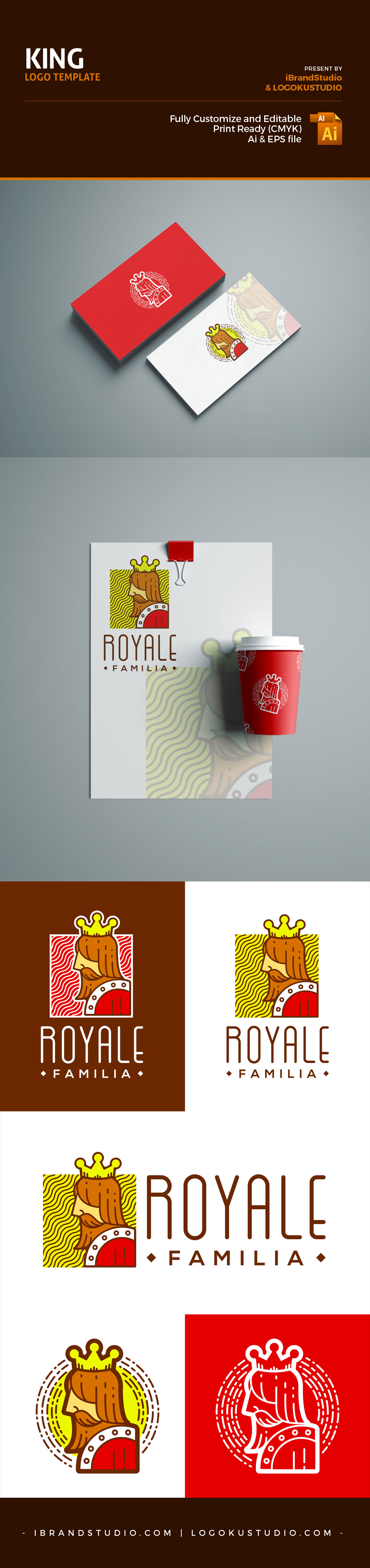 Free King Logo Template (AI, EPS) by iBrandStudio