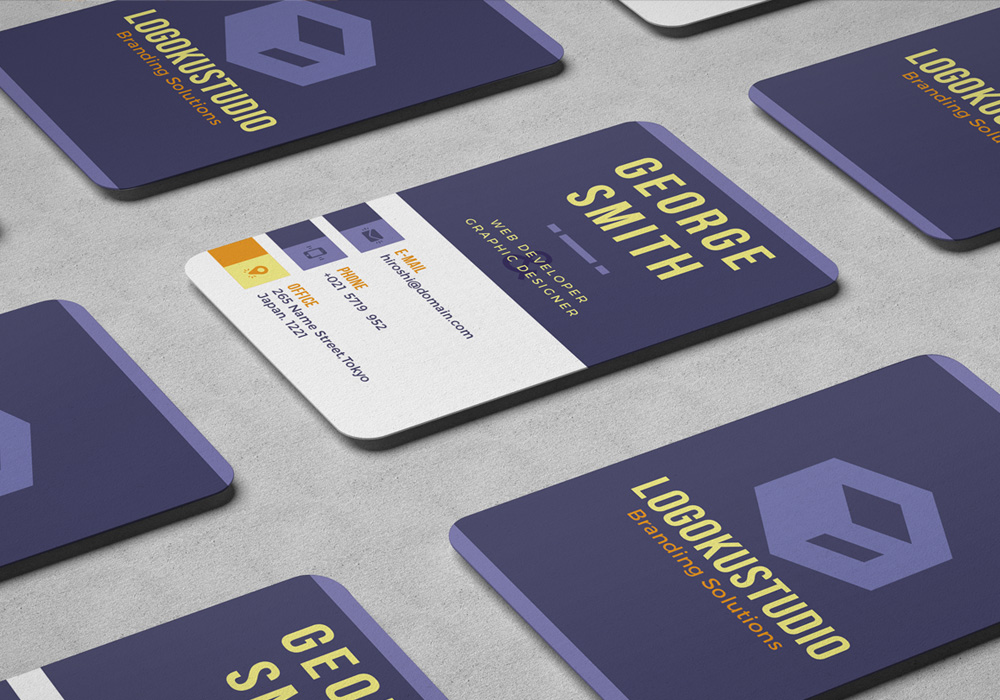 Free CUBE Business Card Template Styles Colors PSD - Business card vertical template