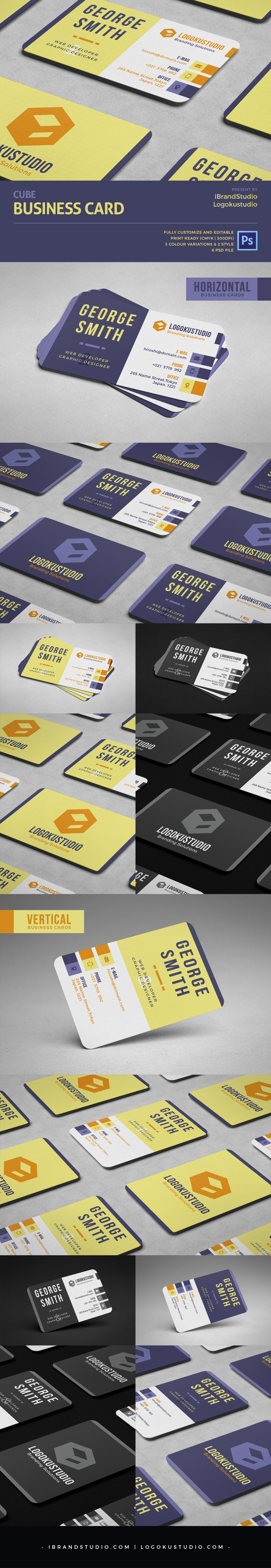 Free CUBE Business Card Template