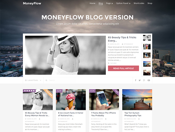 MoneyFlow - Magazine WordPress Theme