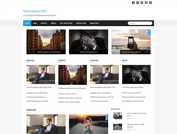 Newsanchor Pro - Magazine WordPress Theme