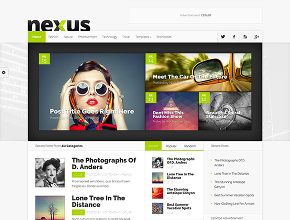 Nexus - Magazine WordPress Theme
