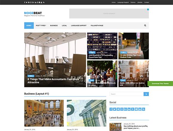 Noozbeat - Magazine WordPress Theme