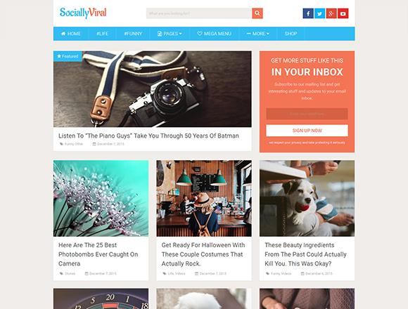 SociallyViral - Magazine WordPress Theme