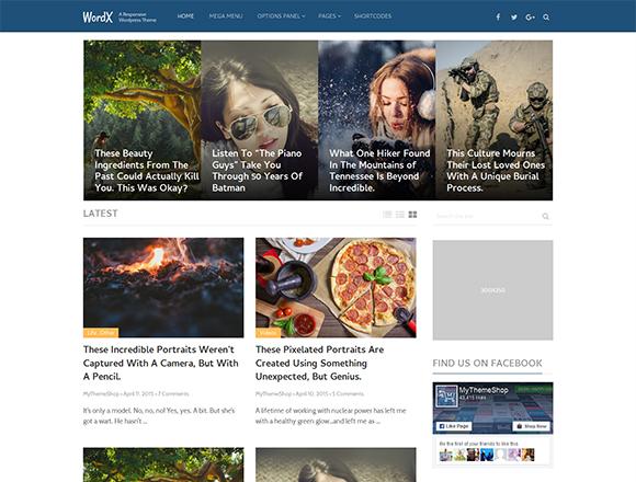 WordX - Magazine WordPress Theme