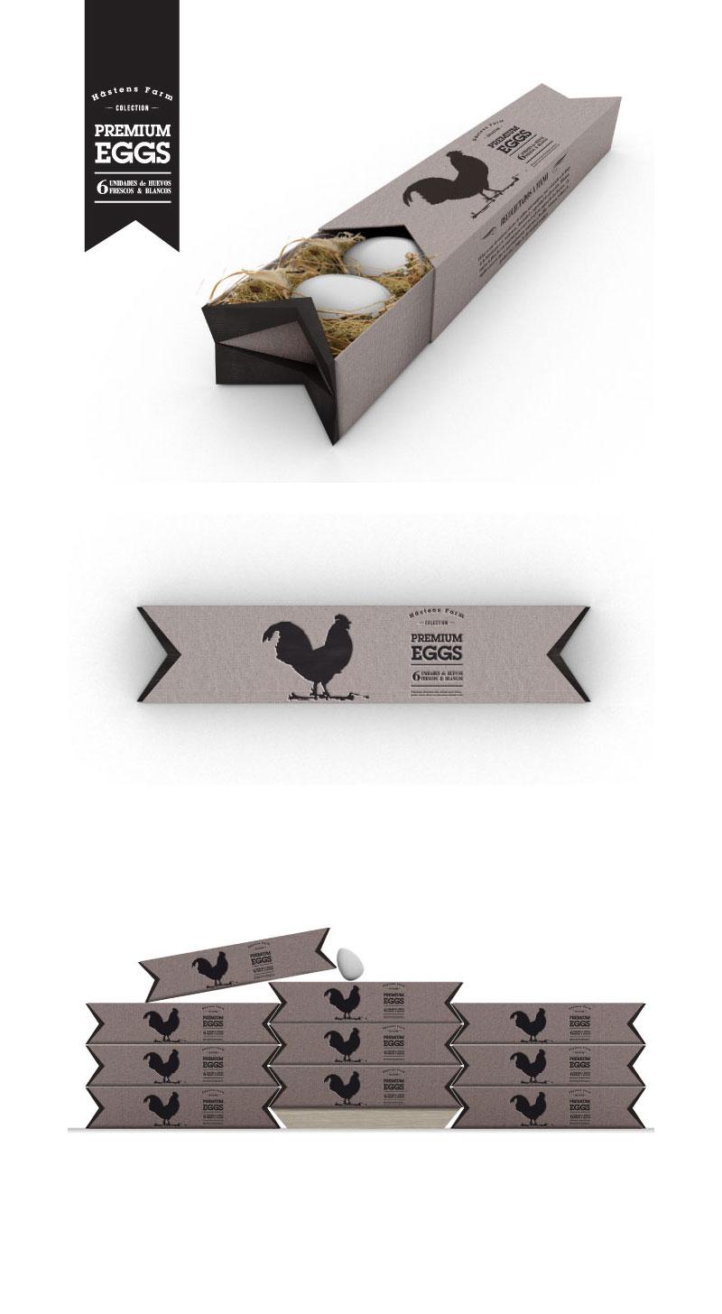 Paquete de huevos premium (concepto) de Azul Prado