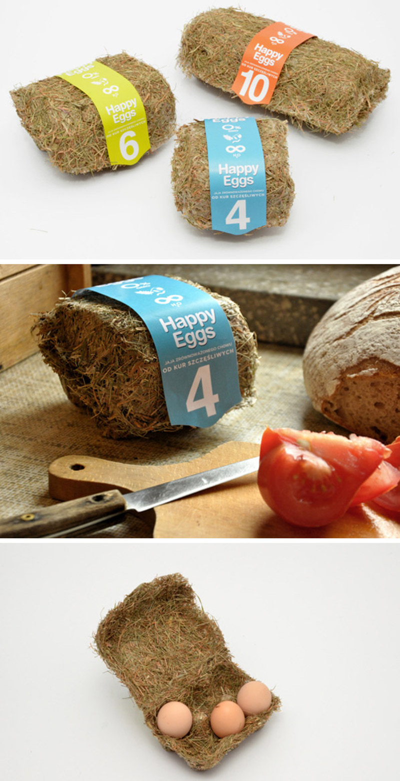 Eco-friendly Happy Eggs Packaging by Maja Szczypek