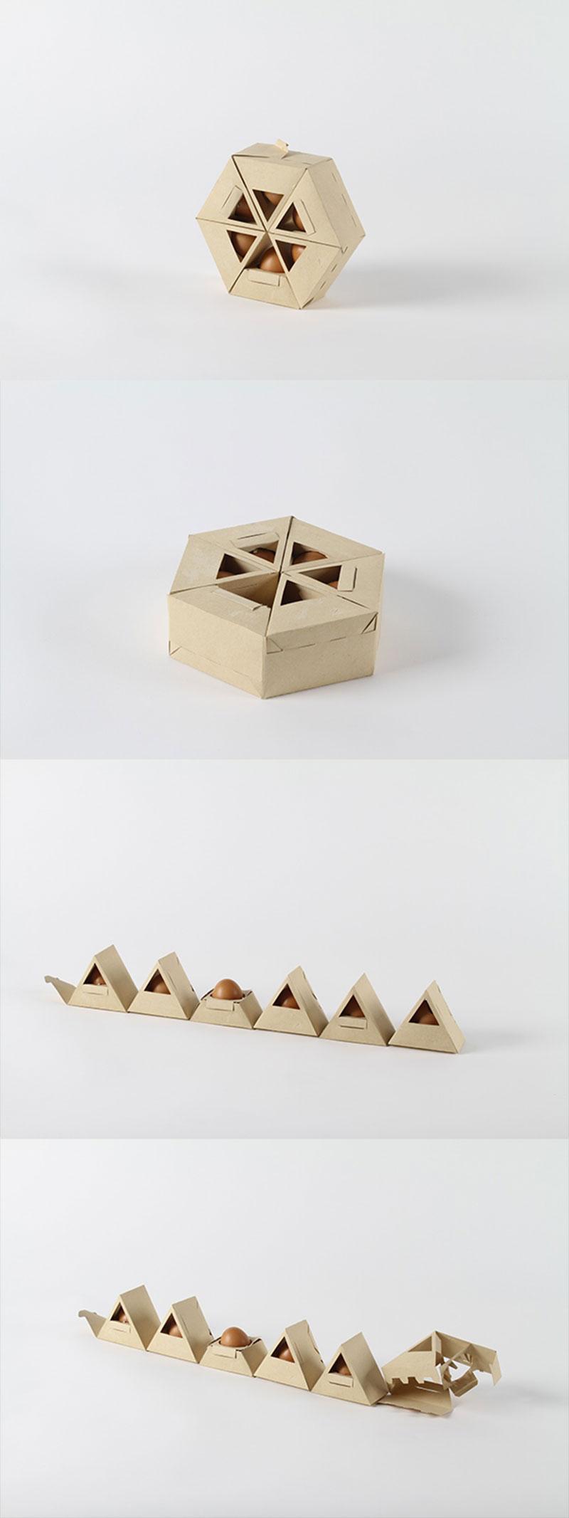 Hexagonial Egg Packaging by Gil Rodrigues