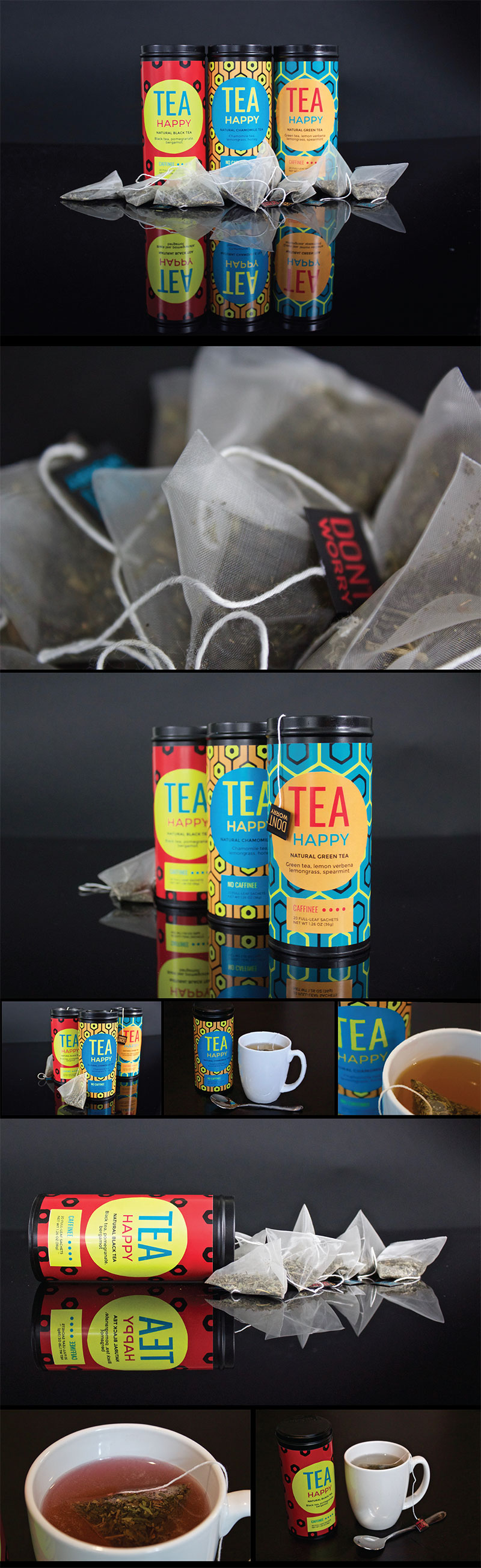 Tea Happy packaging by Carsyn Schares