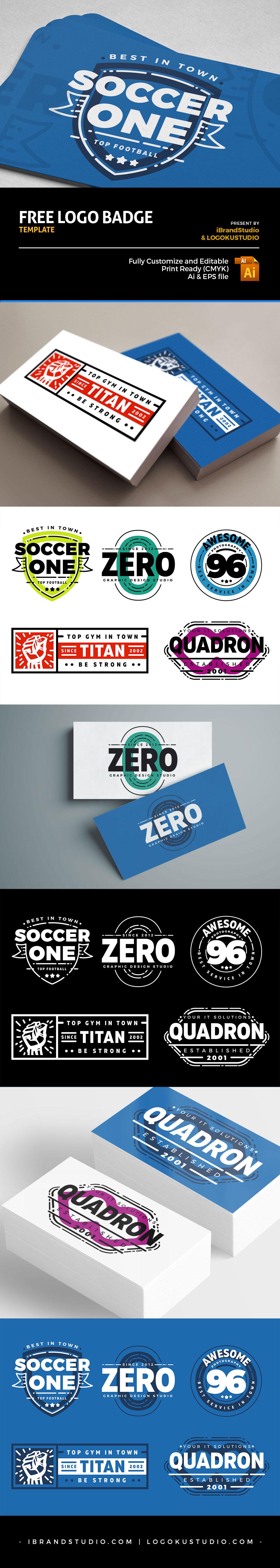 Free Customizable Retro Logo Badges (AI, EPS)