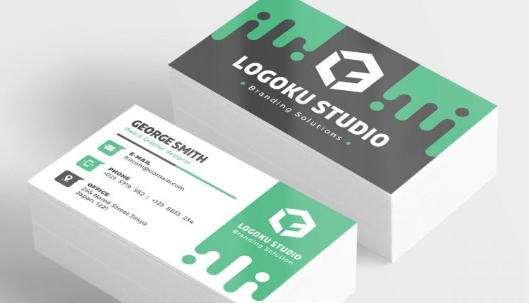 100 free business card psd templates slime business card template 5 colors psd wajeb Images