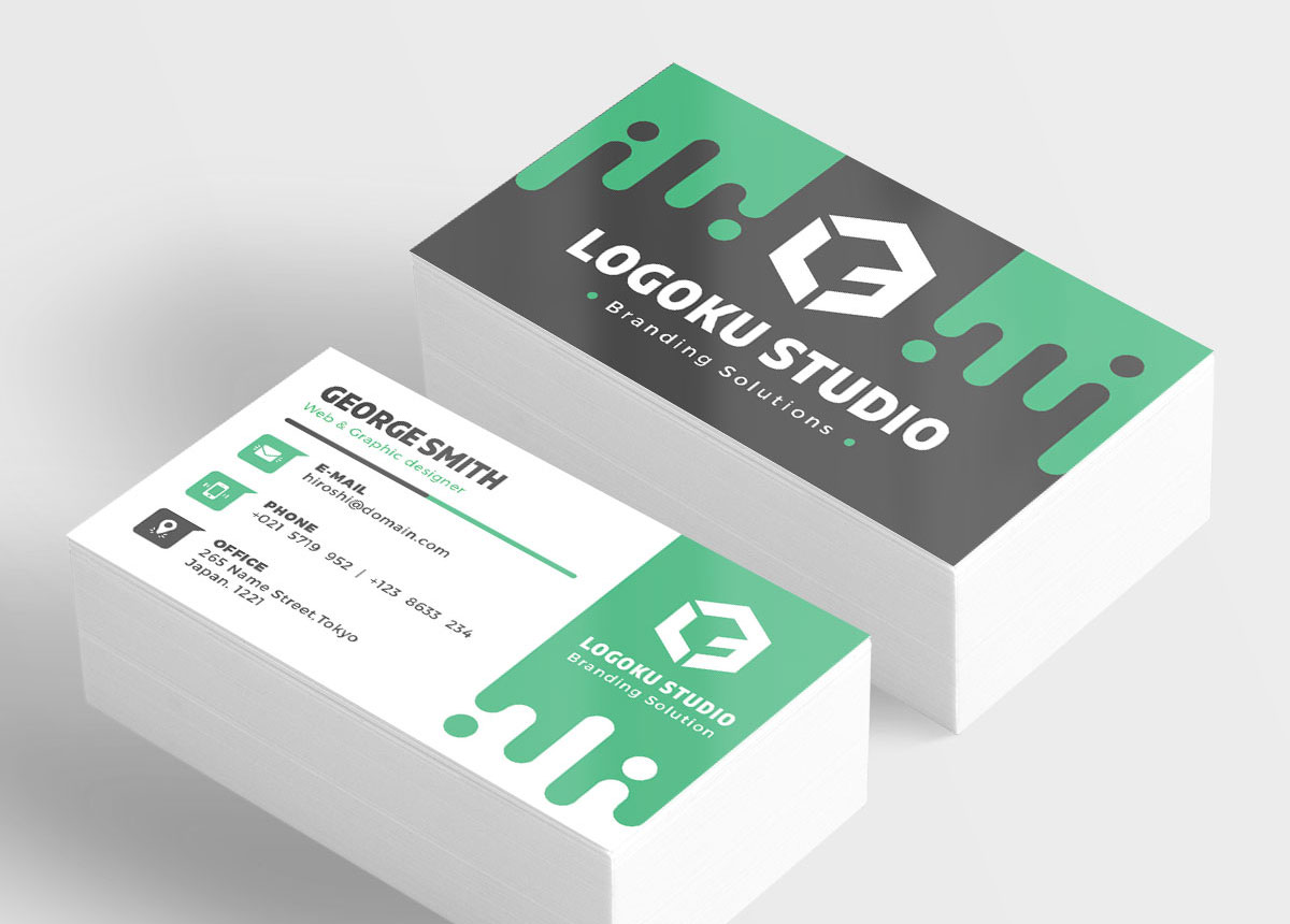 Free Slime Business Card Template (5 Colors, PSD)