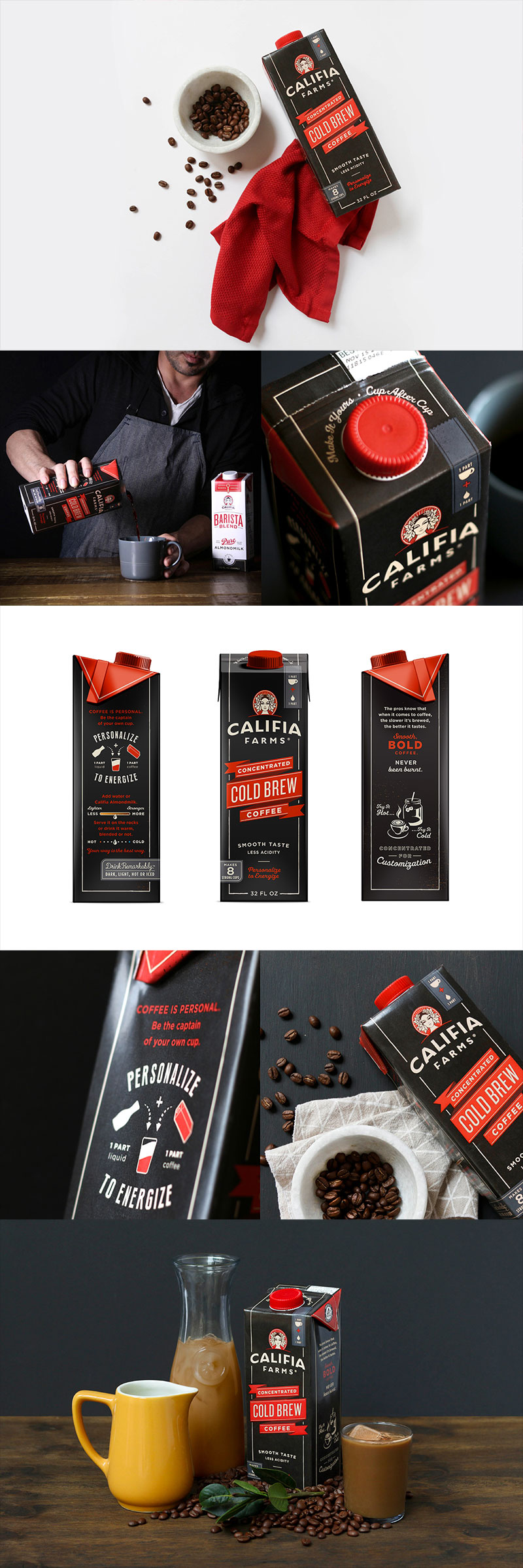 Califia Farms - Concentrated Cold Brew Coffee by Farm Design