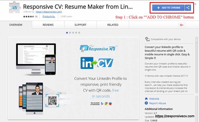 Chrome Extension - ResponsiveCV