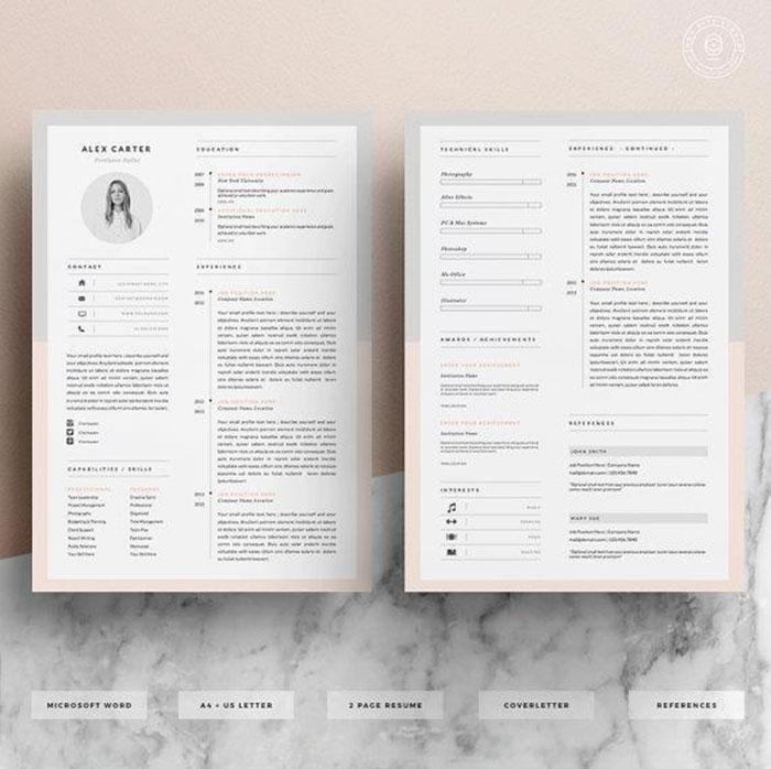 Resume Design by OddBitsStudio