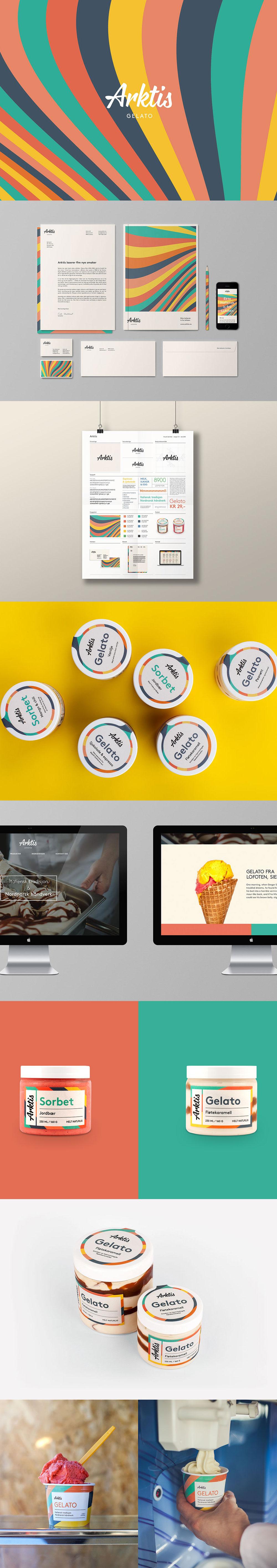 Envasado de helado - Arktis Gelato by north ™