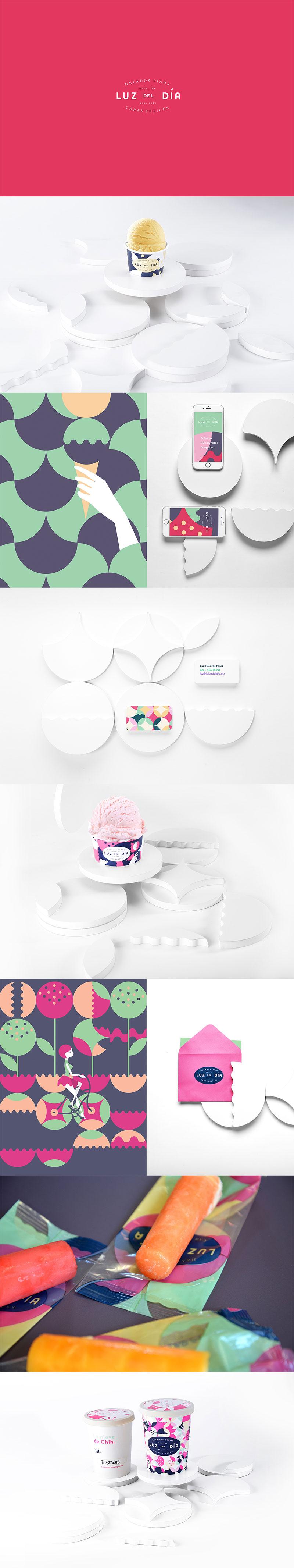 Packaging de helado - La luz del Día by Yeye Design