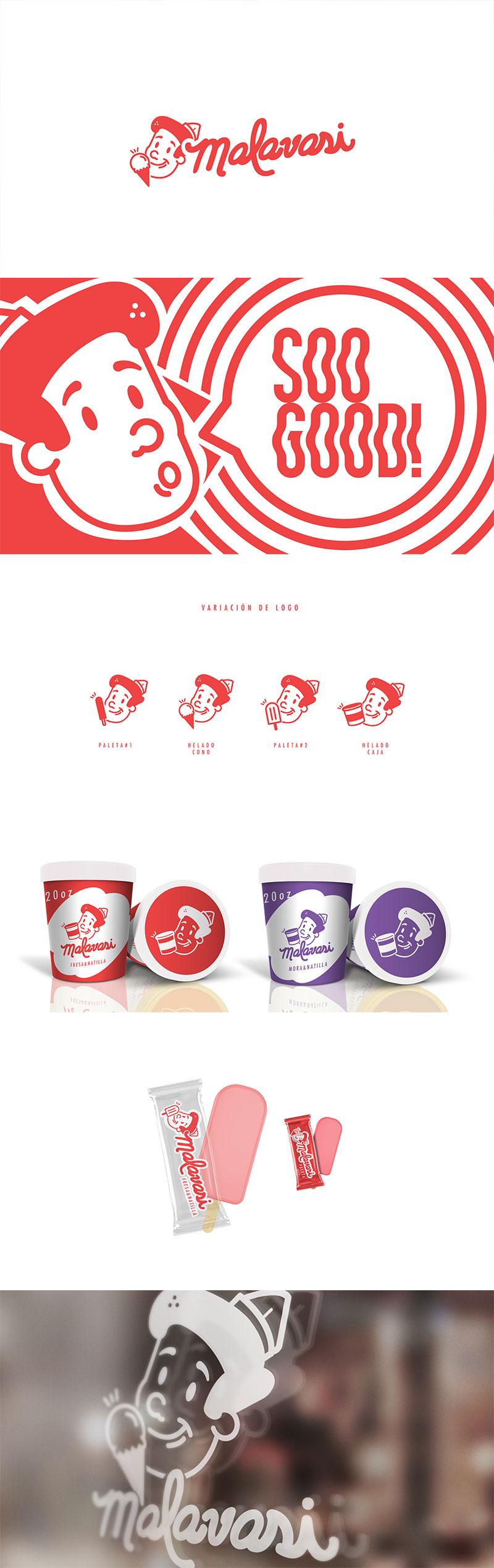 Ice Cream Packaging - Malvasi ice cream
