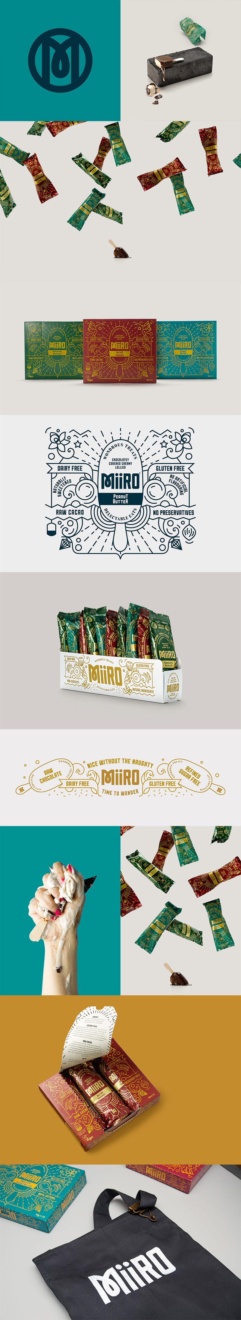 Envasado de helado - Helado MiiRO diseñado por IWANT