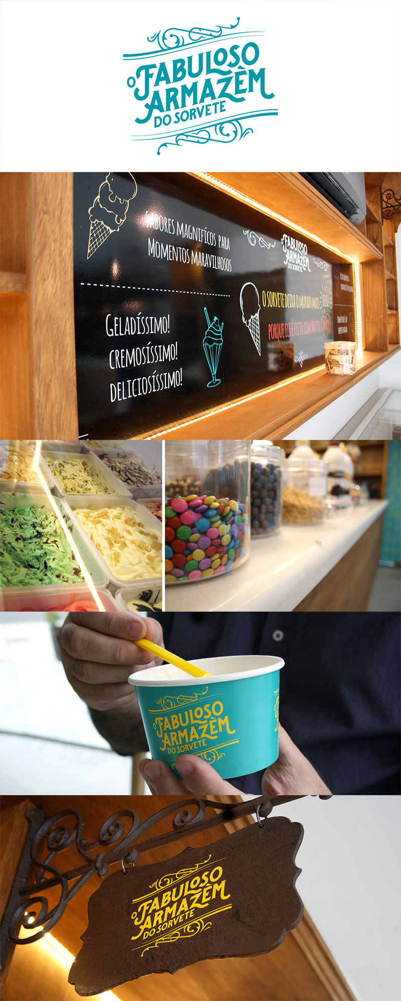 Envasado de helado - O Fabuloso Armazém do Sorvete