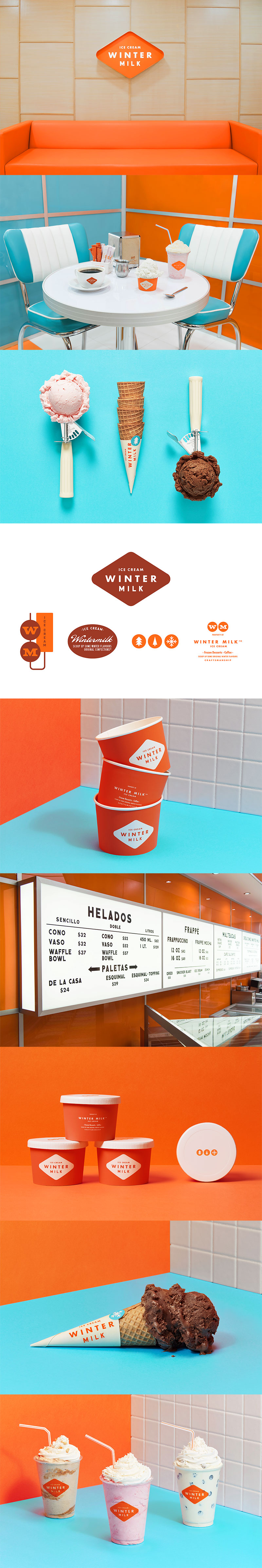 Ice Cream Packaging - Winter Milk by Anagrama Studio
