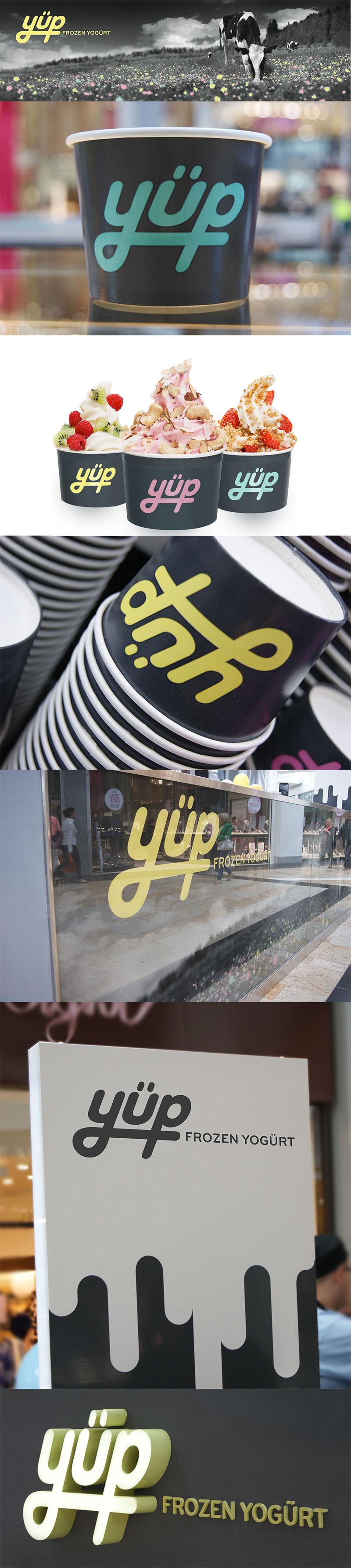 Envasado de helado: yogur helado Yüp