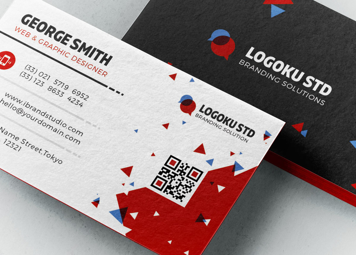 Free Brick Business Card Template (3 Colors, PSD)