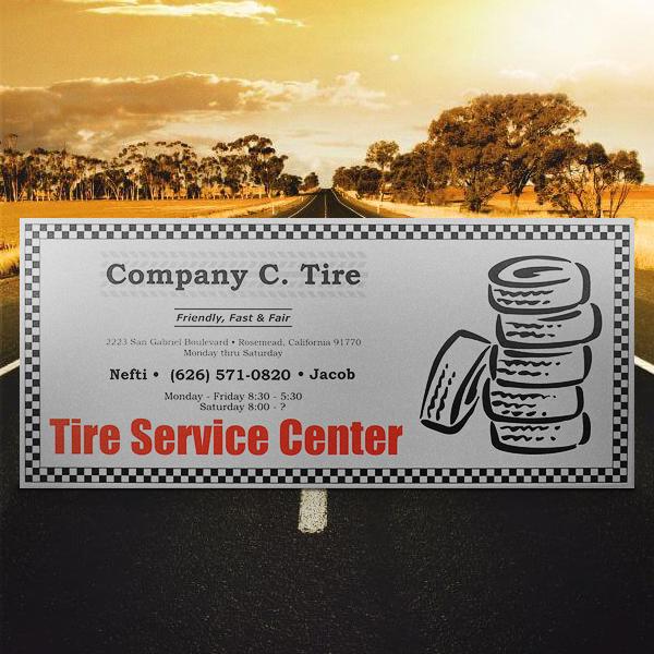 Ejemplos de marketing de impresión: empresa C. Tire