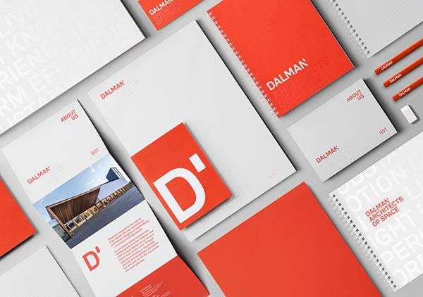 Ejemplos de marketing de impresión - Dalman Architects
