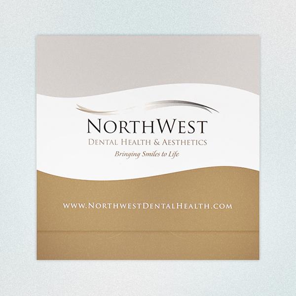 Ejemplos de marketing de impresión - NorthWest Dental Health & Aesthetics