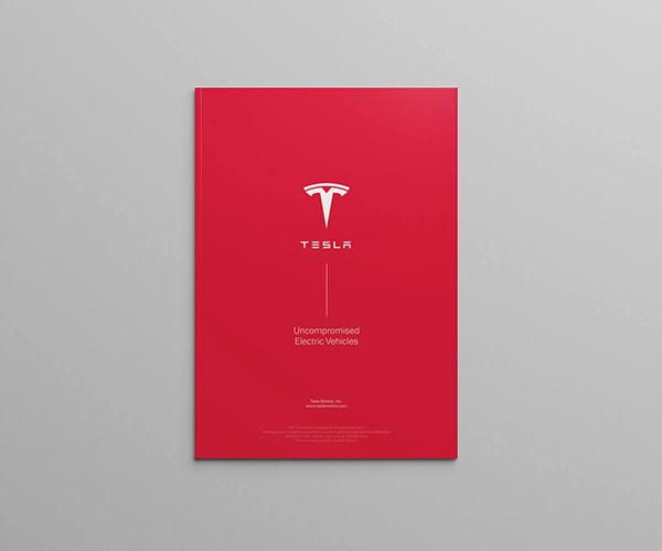 Print Marketing Examples - Tesla