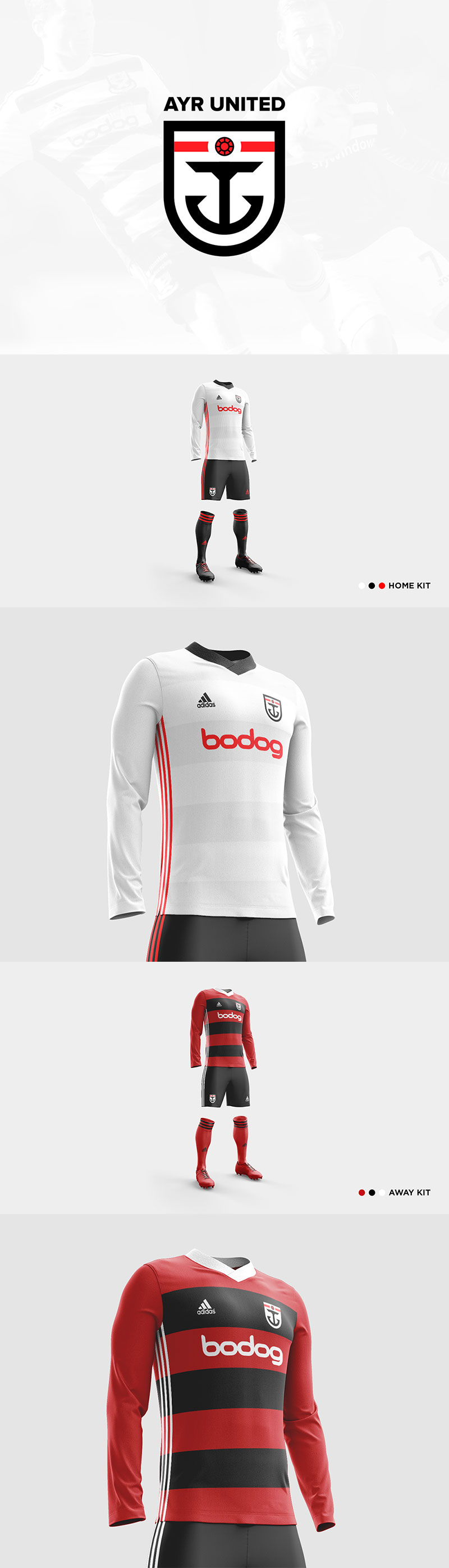 Football Club Brand Designs: Ayr United FC Redesign Concept by Ryan McGinnis