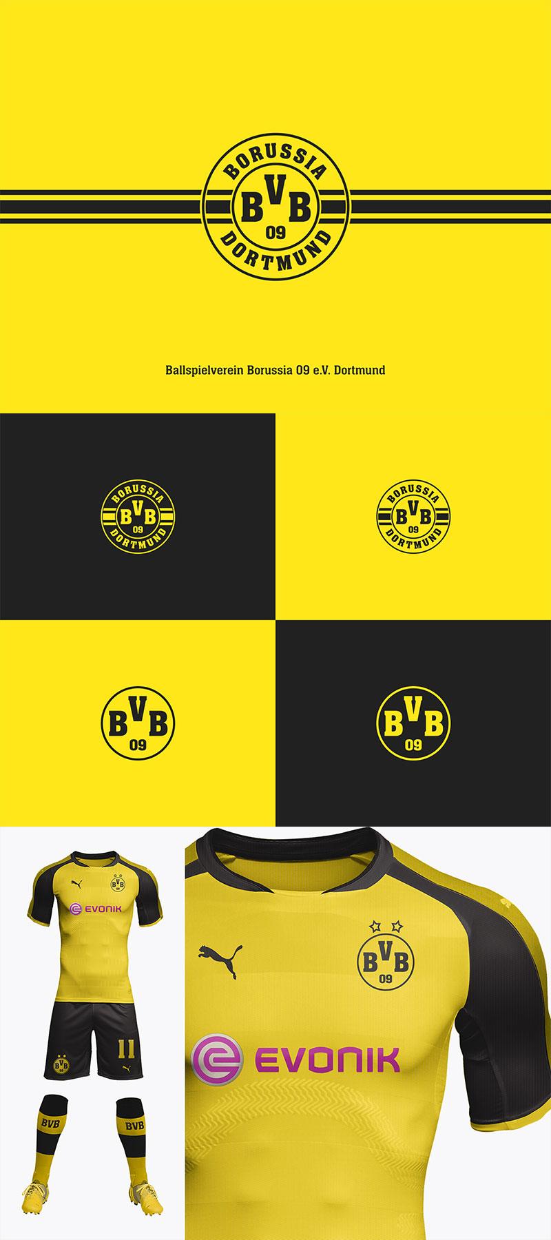 Diseños de la marca del club de fútbol: BVB Borussia Dortmund por Helvetiphant