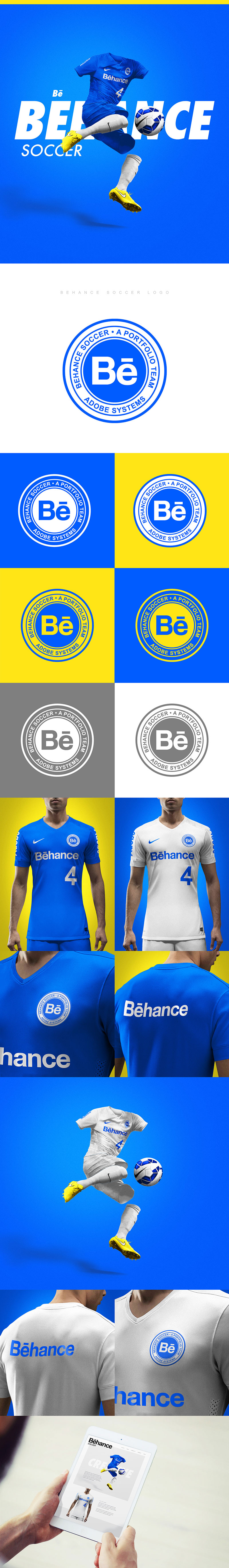 Football Club Brand Designs: Behance Soccer Team by Brandon Williams