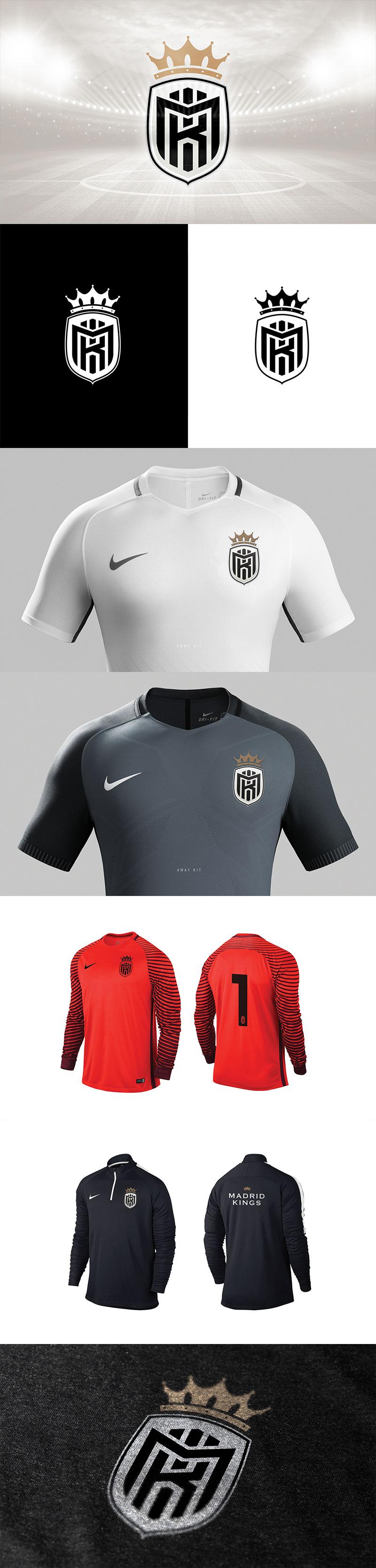 Diseños de la marca del Club de Fútbol: Branding The Madrid Kingsby por Ricardo Carvalho