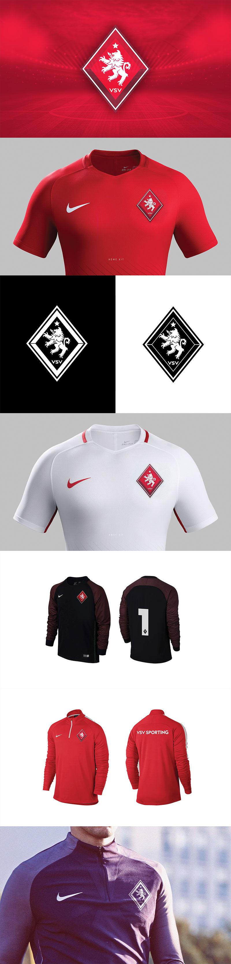 Branding VSV Sporting Football Club por Ricardo Carvalho