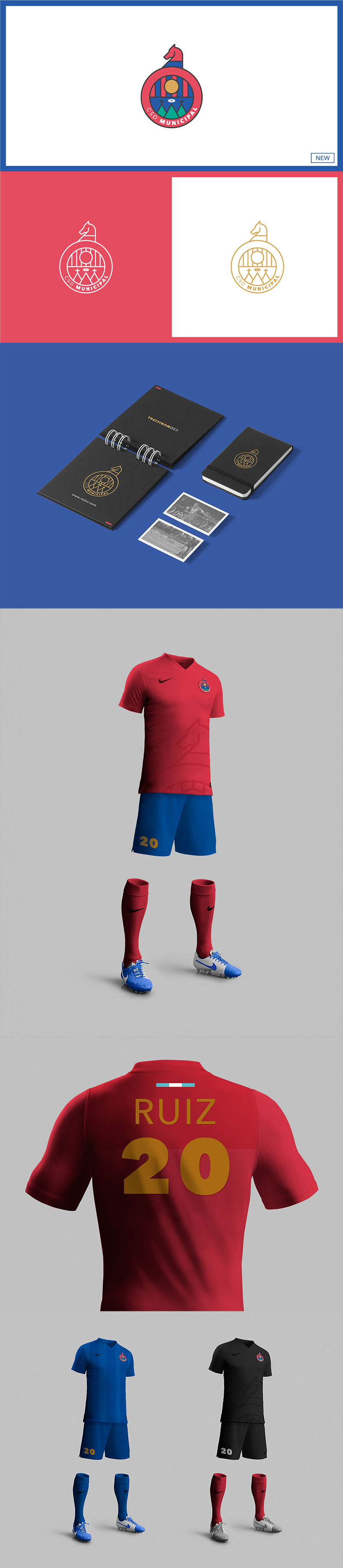 Diseños de la marca del club de fútbol: CSD Municipal - Rebranding por Ale Márquez