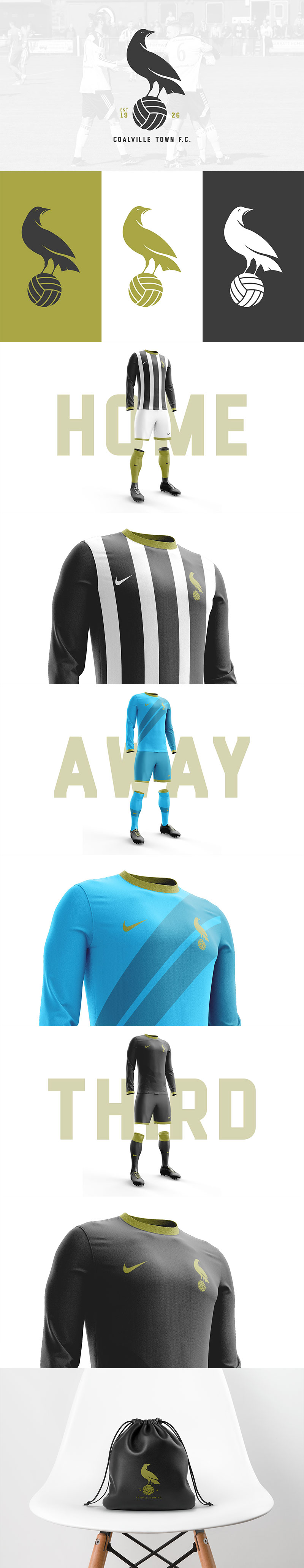Football Club Brand Designs: Coalville Town F.C. Rebrand by Jamie Kerr