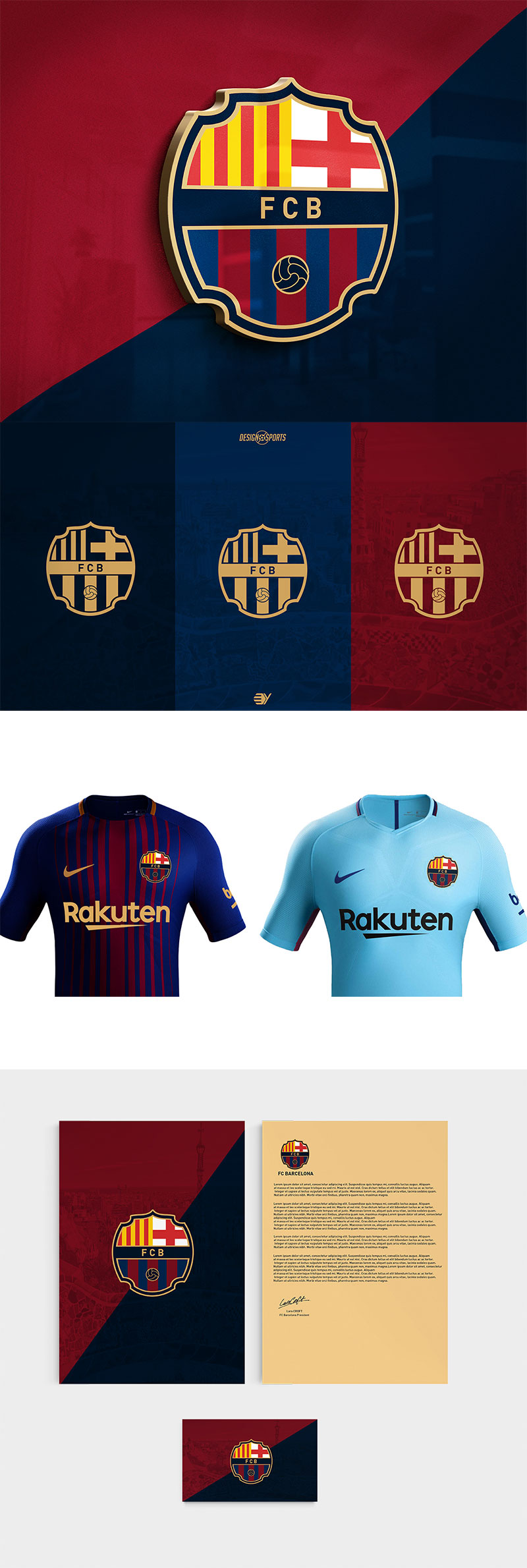 Football Club Brand Designs: FC Barcelona Rebranding by Evrim Yilmaz