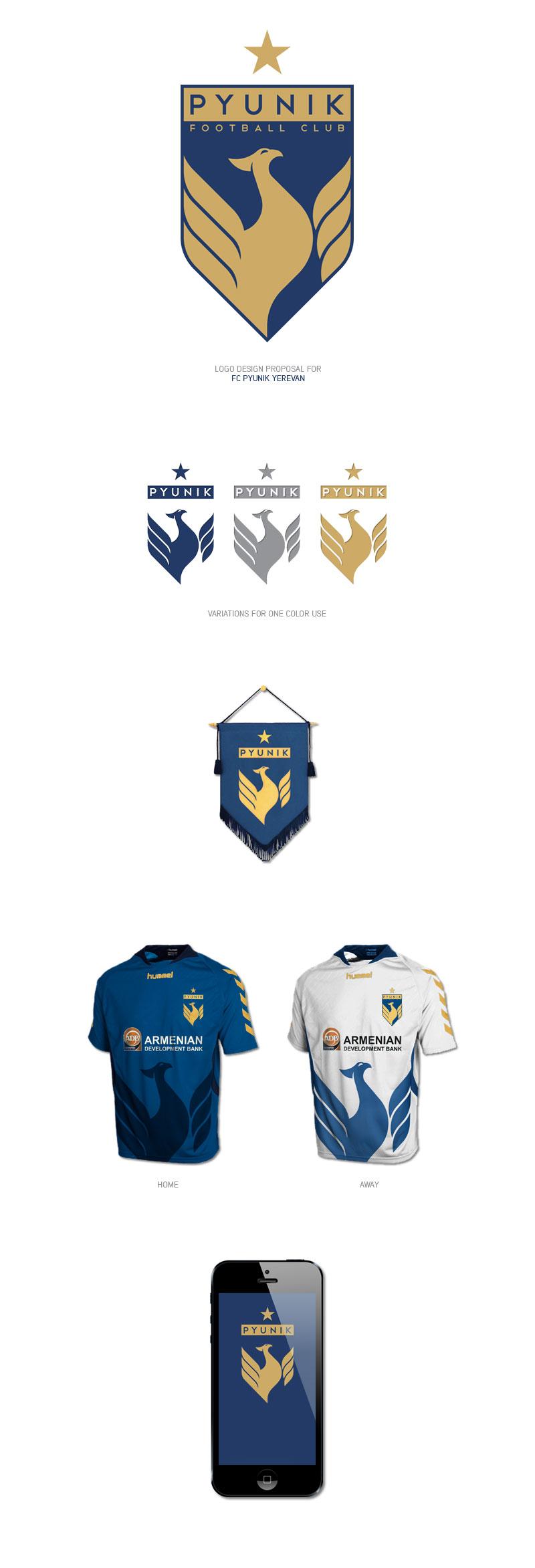 Diseños de la marca del club de fútbol: FC Pyunik por Mushegh Ghulyan