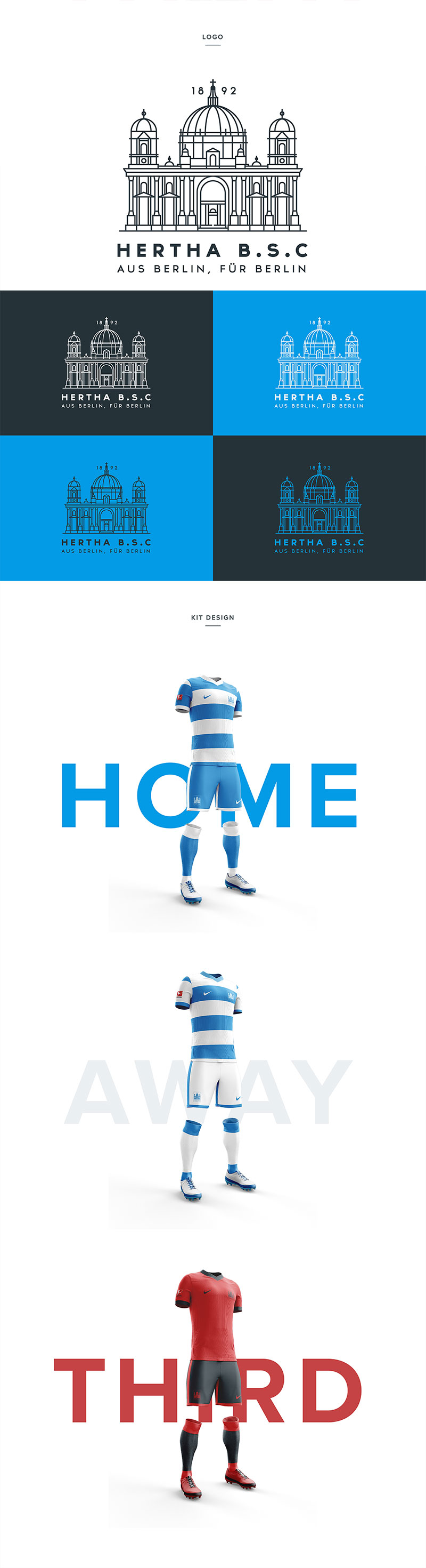 Football Club Brand Designs: Hertha Berlin by Liam Henderson