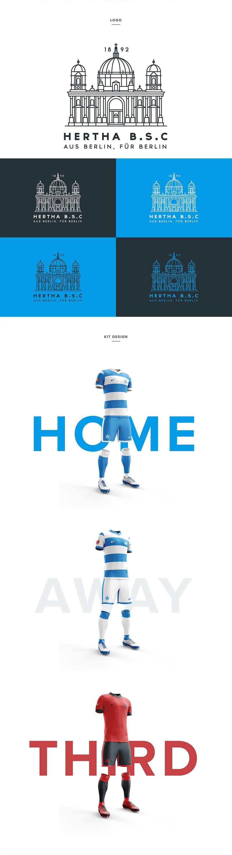 Diseños de la marca del club de fútbol: Hertha Berlin por Liam Henderson