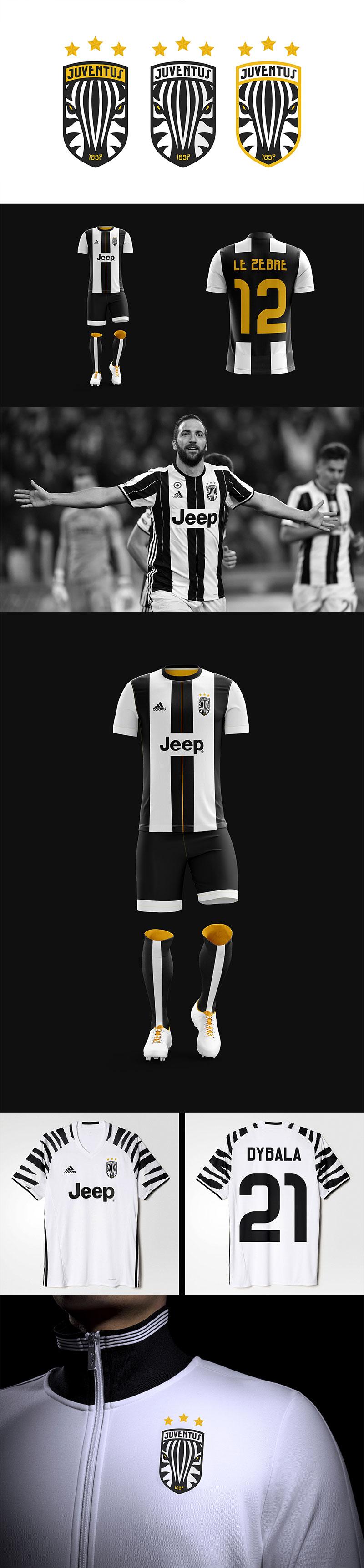 Diseños de la marca del club de fútbol: Juventus FC Rebrand por Edward Sonnex