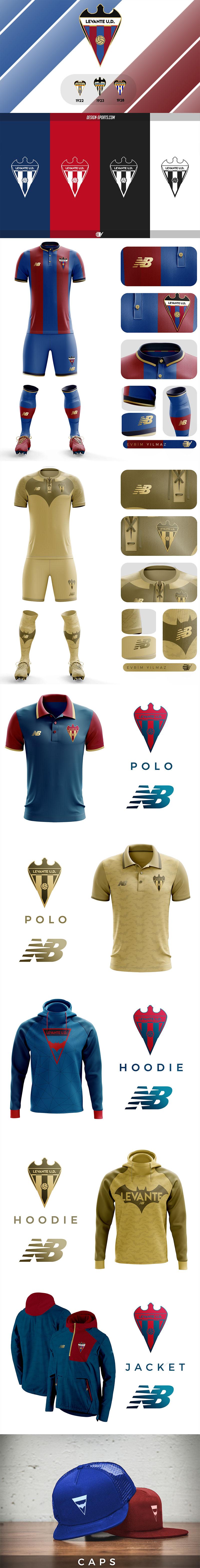Diseños de marca de clubes de fútbol: Levante UD Rebranding por Evrim Yilmaz