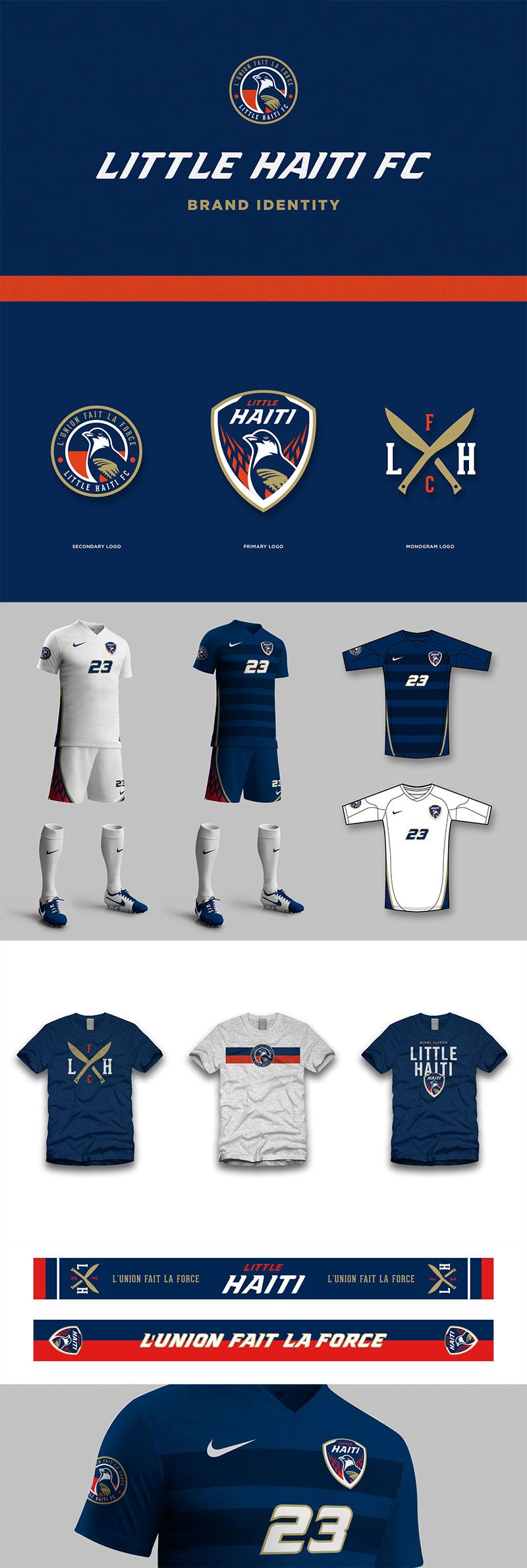 Diseños de la marca del club de fútbol: la identidad del Little Haiti FC por Brandon Moore