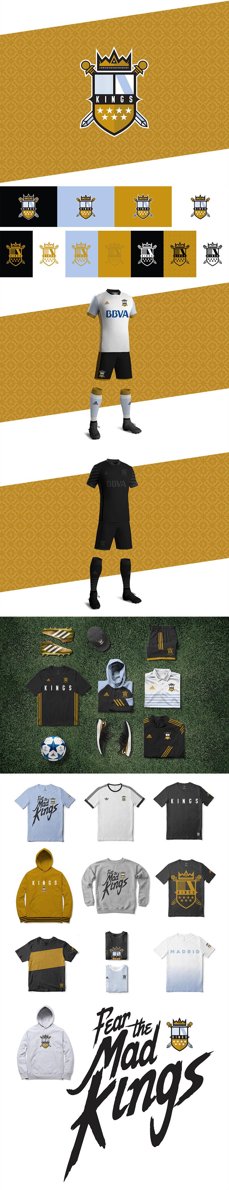 Diseños de la marca Football Club: Madrid Kings FC por Carlos Sanchez