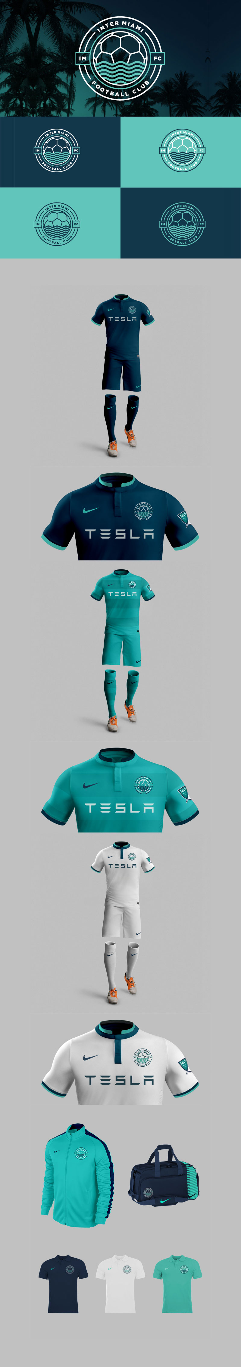 Football Club Brand Designs: Miami MLS Team by Diego Guevara