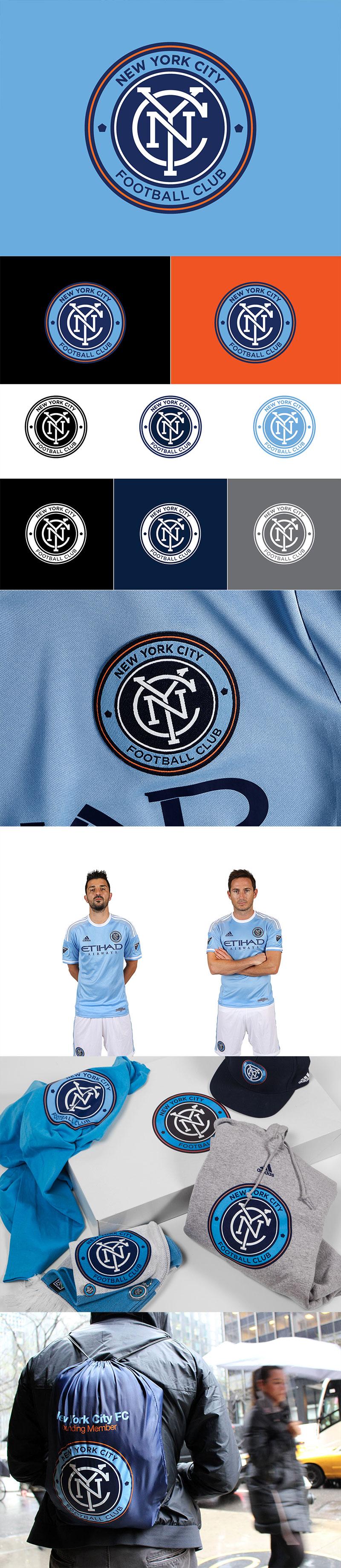 Diseños de la marca Football Club: New York City Football Club por Alfalfa Studio